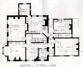 Great Barford Vicarage ground floor plan 1939 [X392-17-2]
